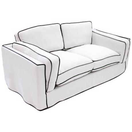 South Beach White Loveseat