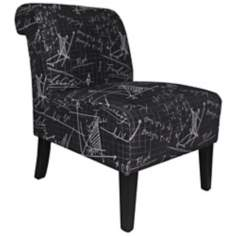Architectural Black Club Chair