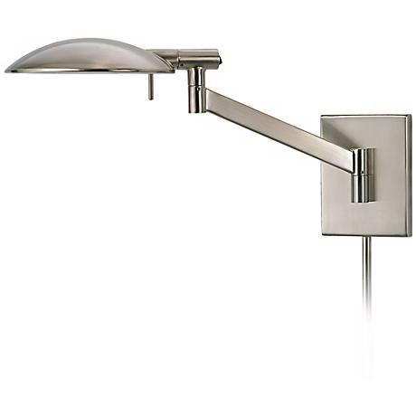 Sonneman Perch Satin Nickel Plug-In Wall Lamp