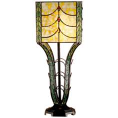 Dale Tiffany Calver Hand-Rolled Art Glass Table Lamp