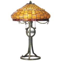 Dale Tiffany Grundy Art Glass Table Lamp