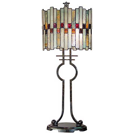 Dale Tiffany Haskey Art Glass Table Lamp