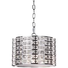 "Artcraft Coventry 12"" Wide Chrome Pendant Light"
