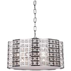 "Artcraft Coventry14 3/4"" Wide Chrome Pendant Light"