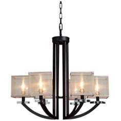 "Artcraft Stowe 27 1/2"" Wide Oil Rubbed Bronze Chandelier"