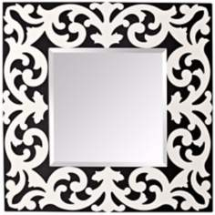 "Murray Feiss Pauline 36"" High Black and White Wall Mirror"