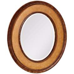 "Murray Feiss Evelyn 36"" High Oval Wall Mirror"
