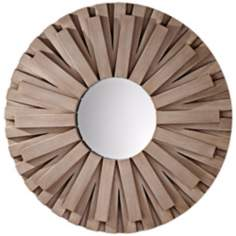 "Murray Feiss Weathered Discus 36"" Wide Wall Mirror"