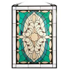 Dale Tiffany Clairmont Art Glass Window Panel
