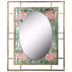 "Dale Tiffany Jules 36"" High Art Glass Wall Mirror"