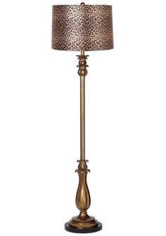 Leopard Print Shade Dark Gold Tulip Floor Lamp