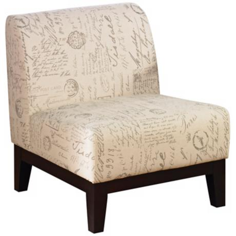 Script Upholstered Accent Chair