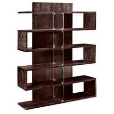 West End Chocolate Modern Bookcase