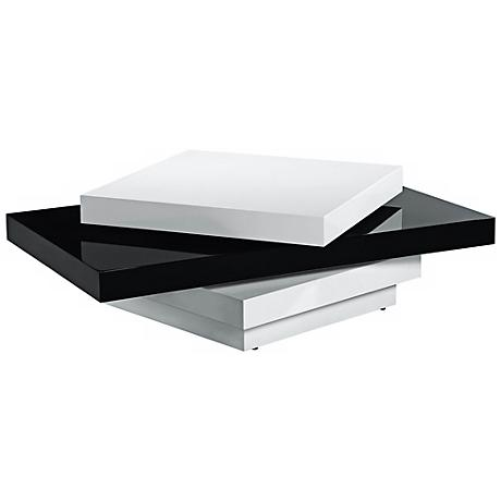Ellington Black and White Modern Coffee Table