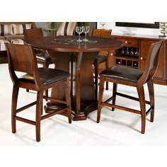 Park Ave. 5-Piece Dark Cherry Counter Height Dining Set