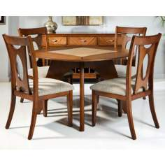Sutton 5-Piece Light Walnut Dining Set