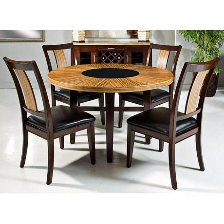 Fifth Avenue 5-Piece Light Zebrawood Dining Set