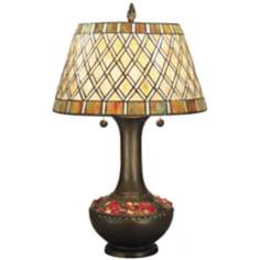 Dale Tiffany Winona Art Glass Night Light Table Lamp