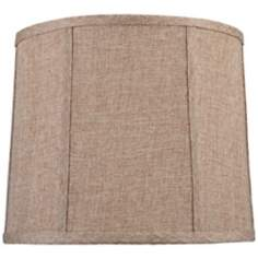 Tan Weave Fabric Lamp Shade 12x14x11 (Spider)