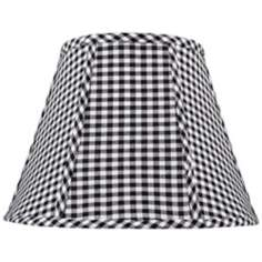 Black and White Check Lamp Shade 8x14x11 (Spider)