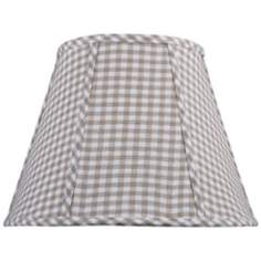 Set of 6 Tan and Cream Check Lamp Shade 3x6x5 (Clip-On)