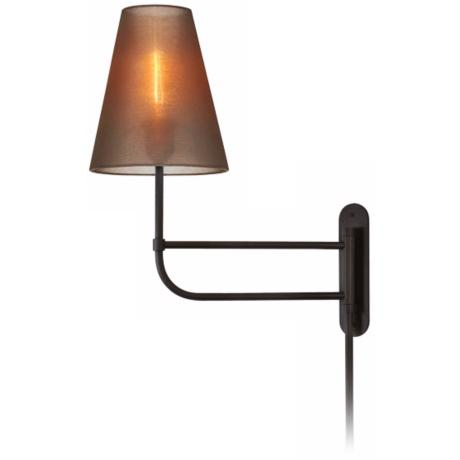 Sonneman Bistro Organza Black Bronze Plug-In Wall Light