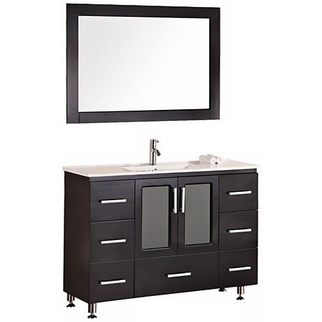 "Stanton Dark Espresso 48"" Drop In Sink Vanity Set"