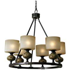 "Uttermost Porano 6-Light 30"" Wide Bronze Chandelier"