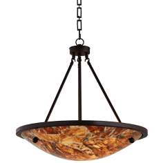 "Uttermost Ravenna 3-Light 25"" Wide Marble Pendant Light"