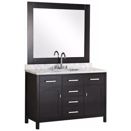 "London 48"" Marble Espresso Single Sink Vanity"