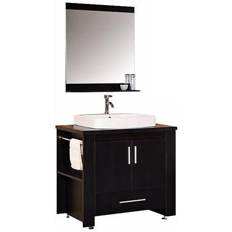 "Washington Espresso 36"" Single Sink Vanity Set"