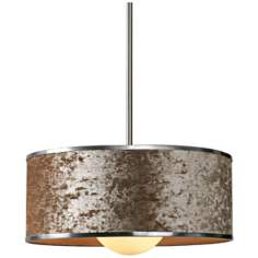 "Uttermost Panache 20"" Wide Rust Velvet Pendant Light"