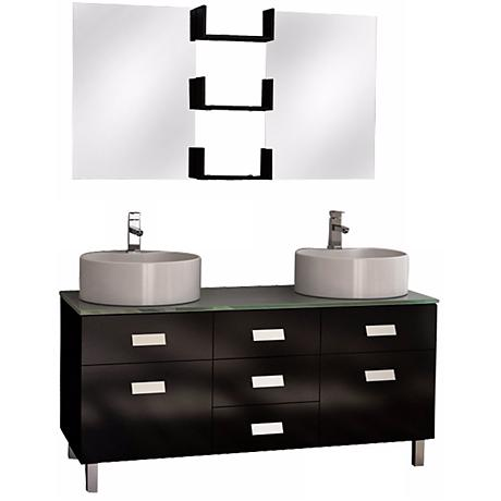 "Wellington 55"" Double Sink Vanity Set"