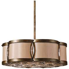 "Uttermost Tresigallo 3-Light 18"" Wide Bronze Pendant Light"