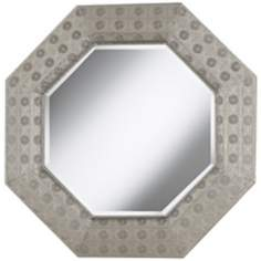 "Octagonal Pounded Metal 31 1/2"" Wall Mirror"