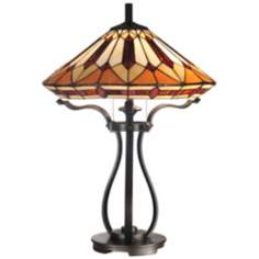 Black Harp Dale Tiffany Table Lamp