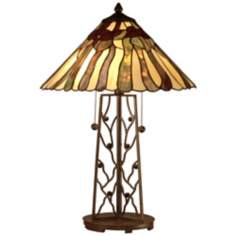 Dale Tiffany Rectangular Bronze Table Lamp