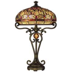 Dale Tiffany Golden Sand Dragonfly Table Lamp