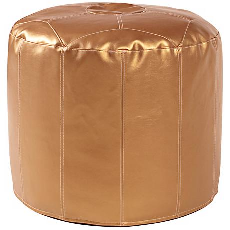Howard Elliott Pod Tall Shimmer Gold Ottoman