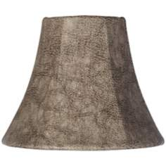 Leatherette Tan Bell Lamp Shade 3x6x5 (Clip-On)