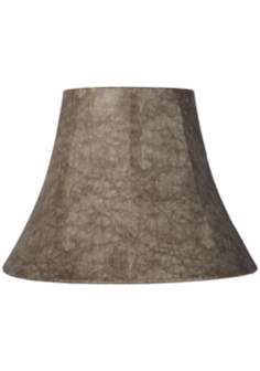Leatherette Tan Bell Lamp Shade 9x18x13 (Spider)