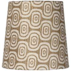 Geometric Ovals Lamp Shade 4x5x5 (Clip-On)
