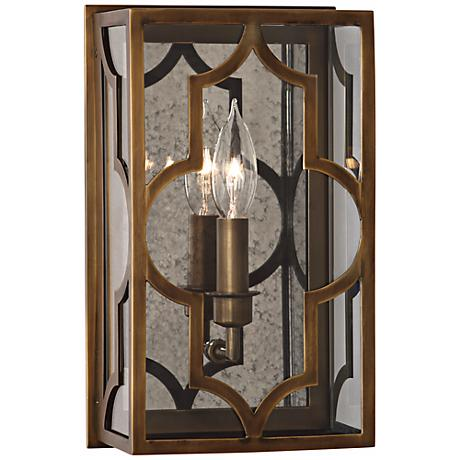 "Robert Abbey Addison 12"" High  Weathered Brass Wall Sconce"
