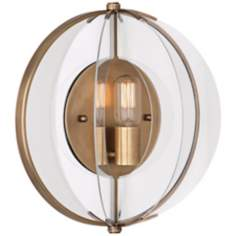"Robert Abbey Latitude 14 1/4"" High Aged Brass Wall Sconce"