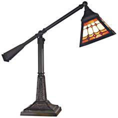 Dale Tiffany Sunset Mission Mica Bronze Accent Lamp