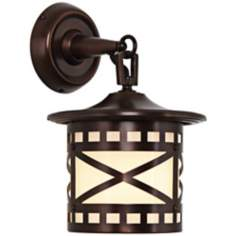 "Robert Abbey Belmont Copper 12 1/2"" High Outdoor Wall Sconce"