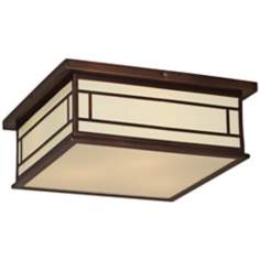 "Robert Abbey Candler 17"" W Ecru Copper Ceiling Light"