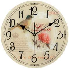 "Love Bird 12"" Wide Decorative Wall Clock"