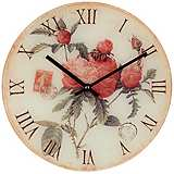 "Flowers 12"" Wide Decorative Wall Clock"