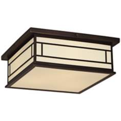 "Robert Abbey Candler 17"" W Ecru Bronze Ceiling Light"